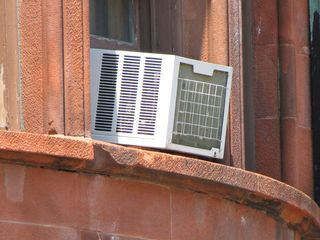 Window air conditioning unit - one of several that we could see.