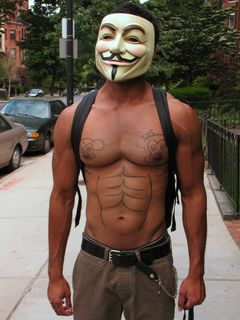 ThetanBait, a particularly well-muscled Anon, let a few others doodle on his chest, and this was the result.