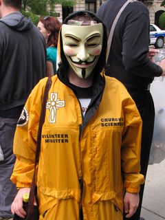"""One Anon had managed to score a """"Volunteer Minister"""" jacket at some point, and wore that to the raid."""
