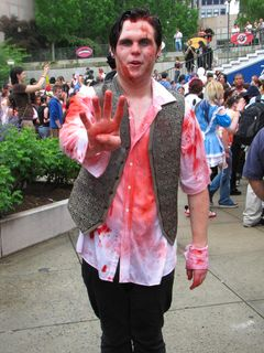 Zombies outside the Prudential Center...