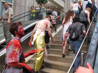 The zombies enter the mall...