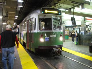 Saying goodbye to our Green Line LRV at Park Street before transferring to the Red Line to head back to Quincy.