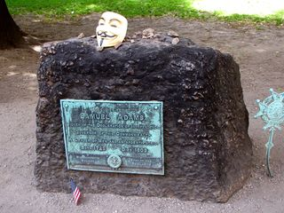 Then Anonymous added a Guy Fawkes mask to the mix. However, we took the mask back with us when we were finished photographing.