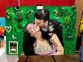 """""""A Night to Remember"""" by Tyler Haney of Allentown, Pennsylvania. Recreation of a photo in Lego."""