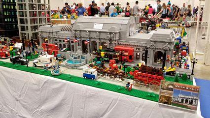 Washington Union Station, built out of Legos.
