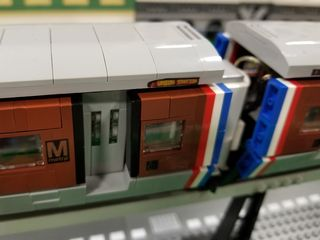 """And around the corner from Union Station was the Metro, built on the Futuron monorail system. It was titled """"WMATA Metro Train 6000"""", and built by Chuck Viggiani of Woodbridge, Virginia. It's not quite a 6000-Series (that is a 7000-Series headsign), but it definitely looks like the Metro."""