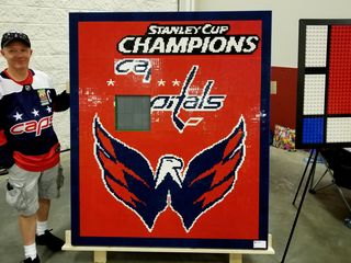 This Capitals sign is actually a sliding puzzle.