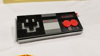One booth was all video game displays. I was just tickled to see various classic video games immortalized in Lego.