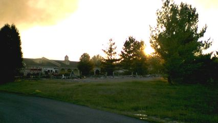 Next door were the remains of Building 5, which had burned to the ground a few days before.