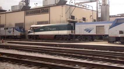 The Amtrak shops in Chicago.