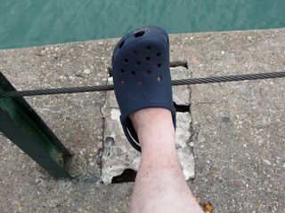 My walking shoes for this trip were my Crocs. Criticize all you want about what Crocs look like, but they served me well on this trip.