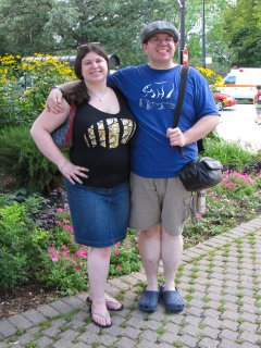 Sis and I smile for the camera just before entering the Lincoln Park Zoo.