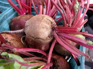 And then these are beets. I obviously have lived a sheltered life, because I never would have thought that beets looked like this in real life. I'm used to the kind that comes out of a can...