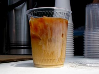 I was particularly interested by a cup of iced coffee that had just had some half-and-half poured into it. It was neat watching the milk and cream move through the otherwise mostly clear liquid. This photo was the alternate for one that I had featured on the Main Page in August 2012.