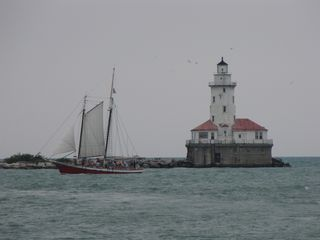 After the lake, we headed over to Navy Pier. There, I got to look at all of the different boats running around Lake Michigan.