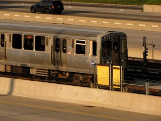 On the train leaving Chicago, we got our last look at the CTA Red Line for this trip. This, however, is the Dan Ryan branch of the Red Line, and I've never been this far south on the Red Line. The furthest south that I've been on the Red Line as of this writing is Roosevelt.