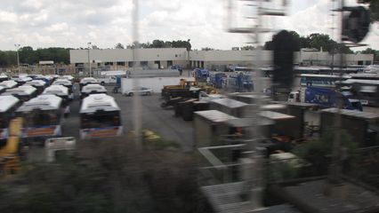 Ride On's Gaithersburg facility. I noticed that this is where the Champion cutaway vans went after they were all removed from service a week before we left for our trip, after far too many fires.