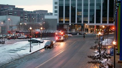 Upon leaving Rosslyn, I noticed fire trucks outside the Boeing building! No idea what was going on there.