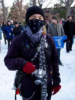 This is Becca from Oakland. She was a friendly person, and also carried two film cameras to cover the action.