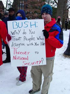 These people take a good look at how the Bush administration treats its opponents and its actions in war.