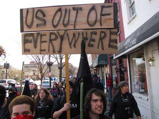 Marching along M Street.