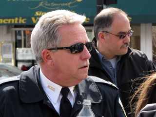 MPDC Captain Jeff Herold takes a moment to survey our march.