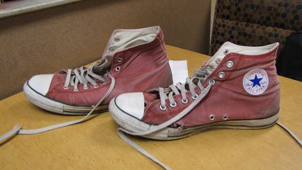 Just how worn out were these shoes? You decide...