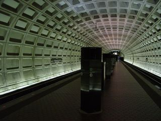 Back underground at the U Street station, we wait for a Green Line train to take us down to Gallery Place-Chinatown.