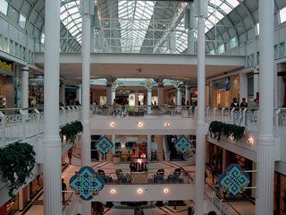 Upon arriving at Pentagon City, we shopped. This is Pentagon City Mall.