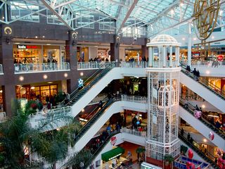 Upon arriving at Pentagon City, we shopped. This is Pentagon City Mall. (This is also a February 8, 2003 file photo.)