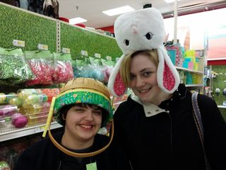 On March 10, Elyse, Melissa, and I got together. This was the first time that Melissa and Elyse had met, and everyone quickly hit it off. First thing that we did was mess around at the Target in Ellicott City for a while, since we had to get a few things.