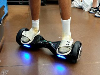 """I spotted a """"hoverboard"""" for the first time on July 14 in Glen Burnie. I think that if I ever tried one of these, I'd break more than just my foot."""