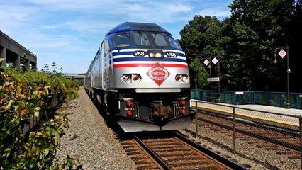 August 21 was Elyse's birthday, and we did some railfanning on that day. Among other things, we went down to Franconia-Springfield and photographed a VRE train, and we also rode a 7000-Series train.