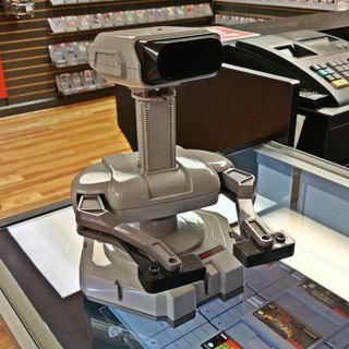 At Time Warp Media in Ellicott City, Elyse and I spotted a Nintendo rarity: R.O.B.!