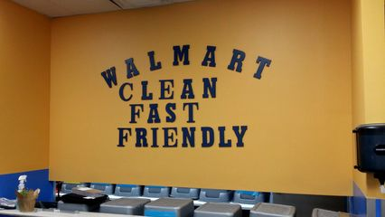 On the way back home, I spotted this at the service desk at the Walmart store in Massaponax, and enjoyed the irony of this sign. Since when are Walmart stores clean, fast, or friendly? Aren't there truth-in-advertising laws that prevent falsehoods like this from being advertised?