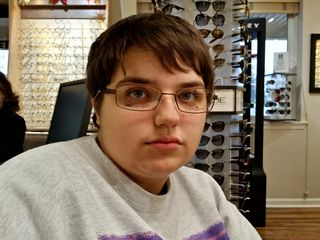 On December 17, before we went to the music store, I went with Elyse so that she could finally get her eye exam. These were the glasses that she selected.