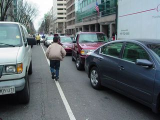 All the while, traffic was snarled as we blocked streets with our march.