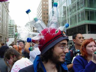 What a neat hat! Now, though, we need to just get him to Take Back The Tap...