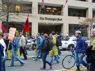 Though likely only by coincidence, our march route also took us past the headquarters of The Washington Post.