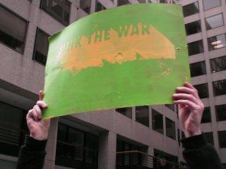 """Funk the War"" sign."