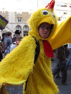 Chicken suit!