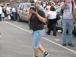 Plenty of photographers took pictures of our mobile dance party.
