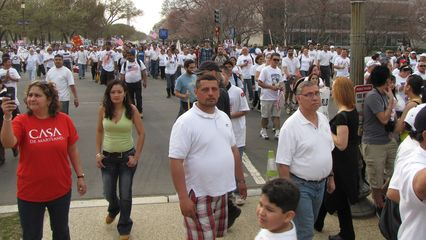 All the while, people continued streaming past us onto the Capitol grounds.