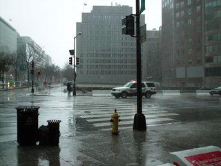 It was raining - HARD!