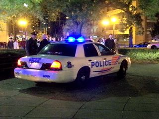 Yes, the cops were out in force in Dupont Circle...