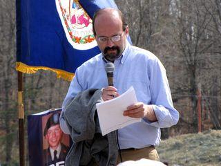 Speakers at a Bradley Manning demonstration, 2011
