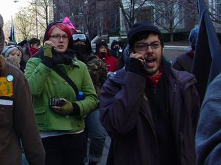 I was amazed to see how many people were talking on their cell phones during the march. Personally, my cell phone indicated that it had gone off a couple of times, but I never heard it go off at the time due to the other noises of the march.