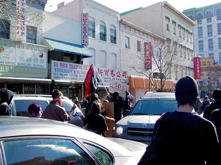 Yes, the march down 7th Street took us straight through part of Chinatown.