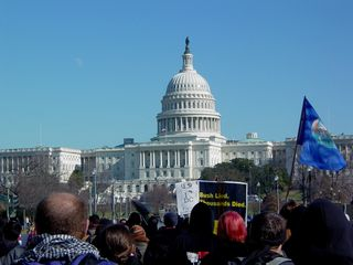 The Capitol is in view, as we begin to close in.