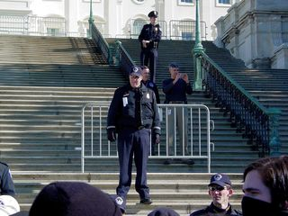 The Capitol Police held the steps and that was the end of our rush.